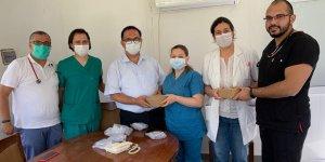Devlet Hastanesi'ne doktorlardan bağış