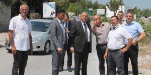 Atakan Girne'deki yol çalışmasını yerinde izledi