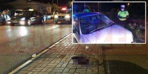 Aracın çarptığı yaya kurtulamadı!