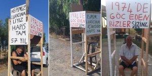 Kafesli eyleme Akçay'dan destek