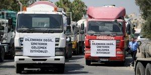 Müteahhitler Birliği'nin eylemi devam ediyor