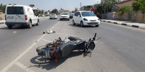 Motor sürücüsü yaralandı