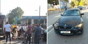 Aracın çarptığı bisiklet sürücüsü yaralandı