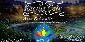 Karma Cafe'de el sanatları etkinliği