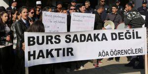 Öğrencilerden burs isyanı