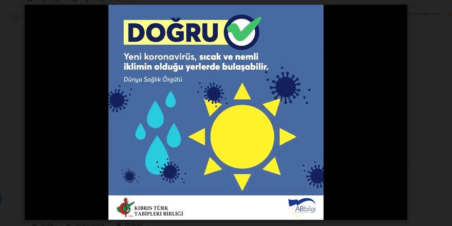 Koronavirüs ile İlgili Doğrular!