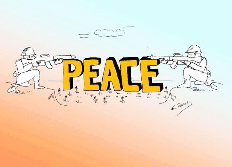 Kıbrıslı Türk çizerlerin eserleri Kosovada 2
