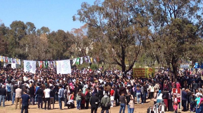 İskelede Newroz ateşi yakıldı 2