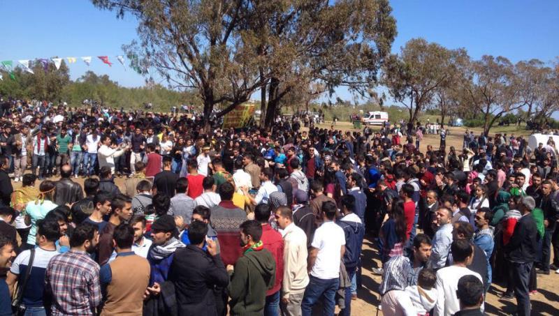 İskelede Newroz ateşi yakıldı 6