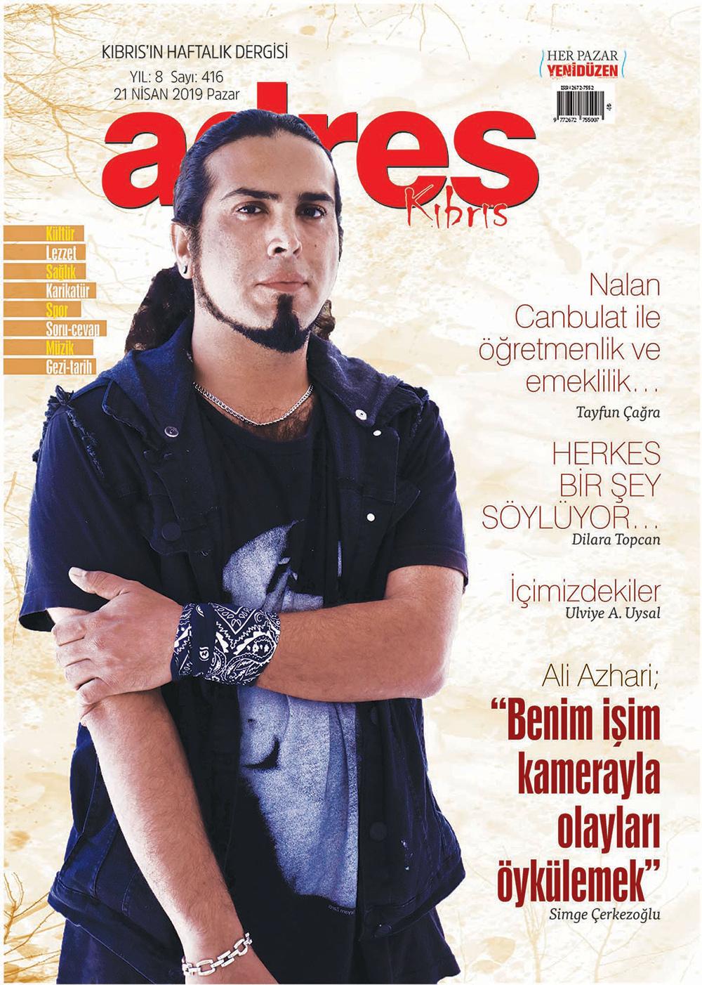 Adres Kıbrıs 416 Sayısı ISSN 2672-7560