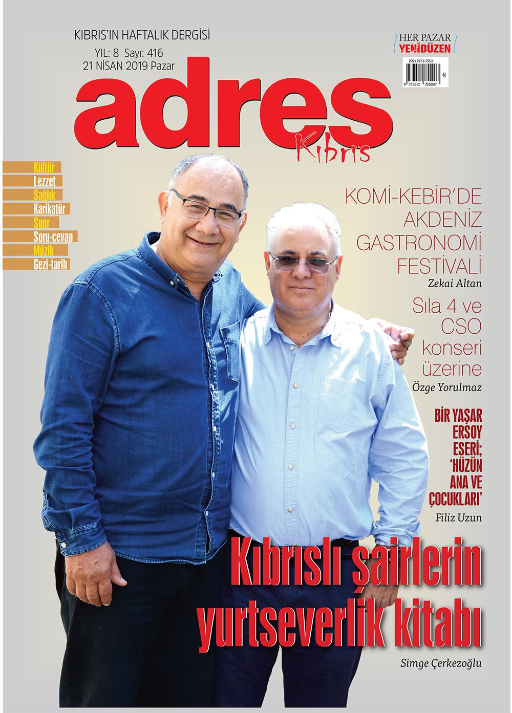 Adres Kıbrıs 417 Sayısı ISSN 2672-7560