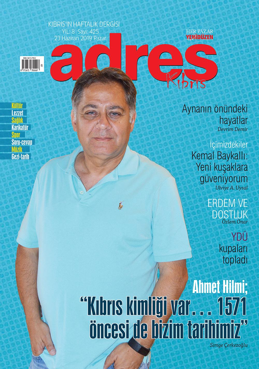 Adres Kıbrıs 425 Sayısı ISSN 2672-7560