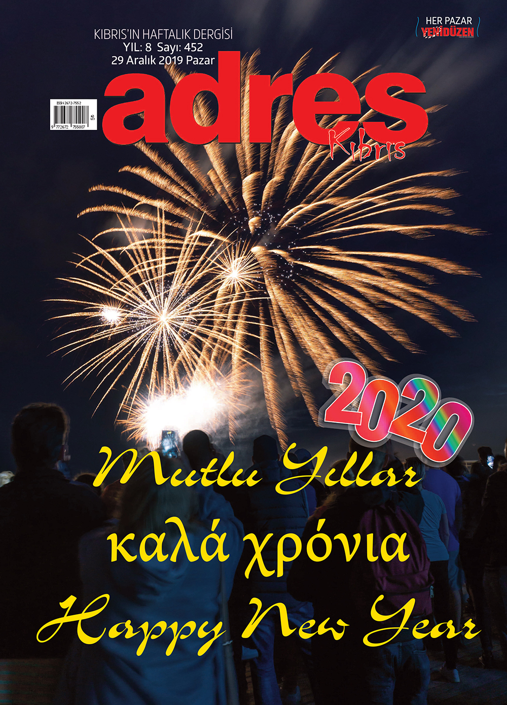 Adres Kıbrıs 452 Sayısı ISSN 2672-7560