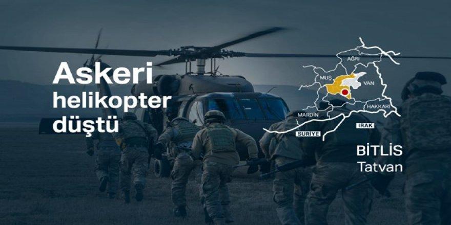 Bitlis Tatvan'da askeri helikopter düştü: 9 asker hayatını kaybetti
