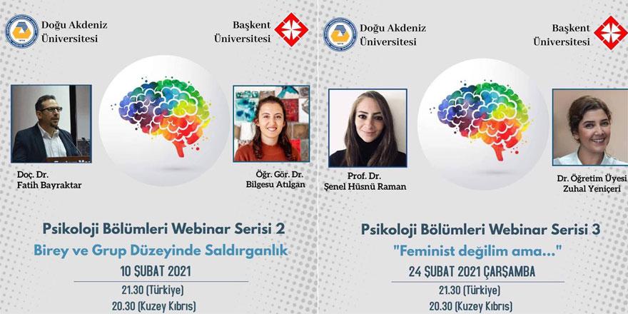 DAÜ ile Başkent Üniversitesi arasındaki ortak webinar serileri sürüyor