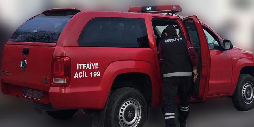 Ağıl içerisinde 170 adet rulo balya yandı