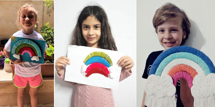 Öğrenciler, renkli iplerden kendi gökkuşaklarını tasarladı