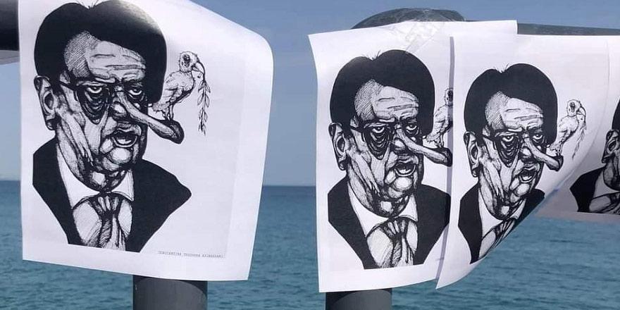 Anastasiadis'e karikatürlü tepki
