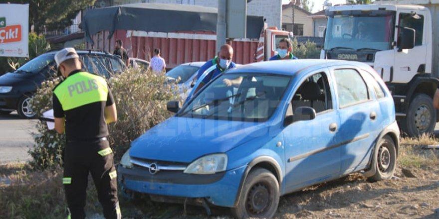 Lefkoşa'da korkutan kaza: 1 yaralı