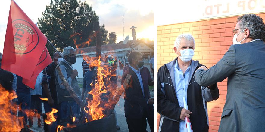 Barış için ateş yandı, sloganlar atıldı