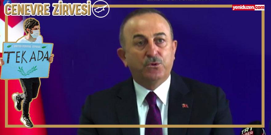 """Çavuşoğlu: """"Türk tarafı egemen eşitliği kayda geçirmiştir"""""""