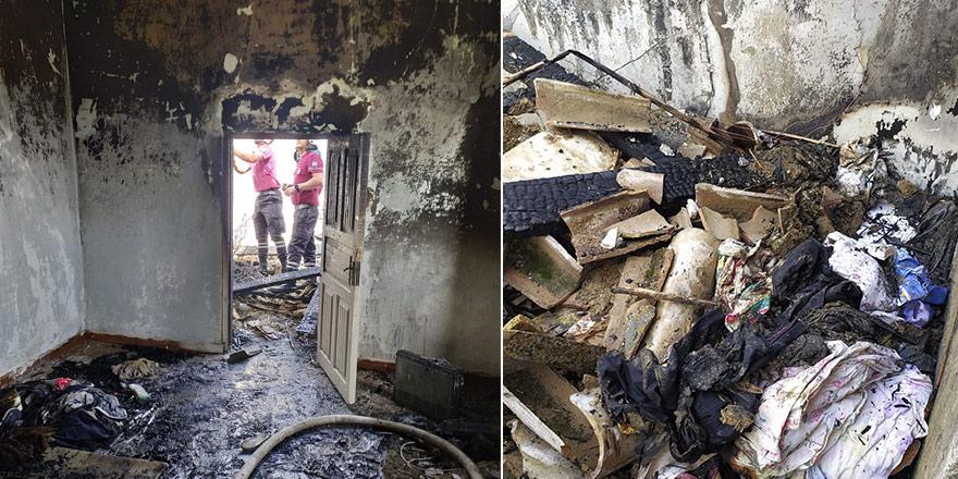 Haspolat'ta yangın, 1 kişi hastaneye kaldırıldı