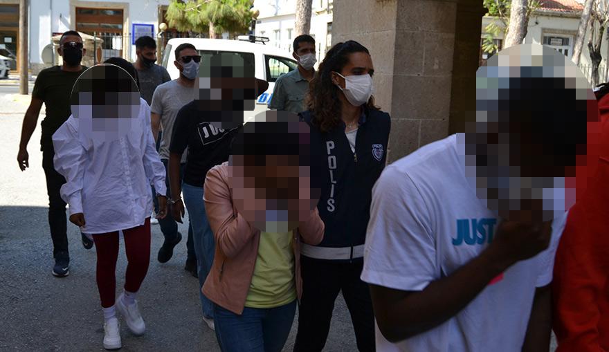 Girne'de evde uyuşturucu: 7 tutuklu