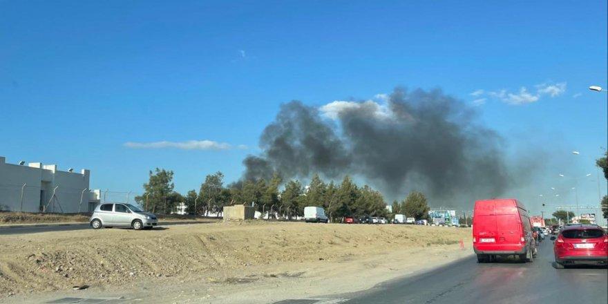 Lefkoşa Sanayi'de kaynak atölyesinde yangın