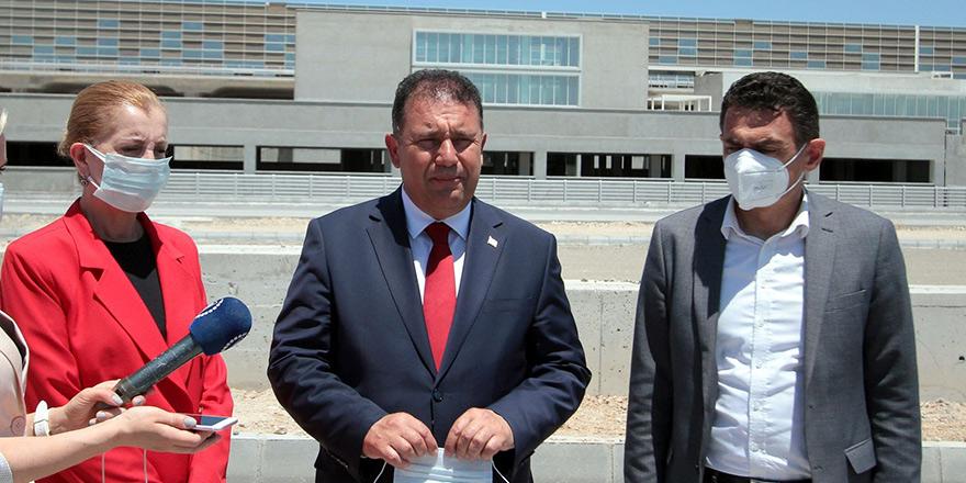 """""""Ercan'ın yeni terminal binasını en geç 2022 başında halkın hizmetine açacağız"""""""