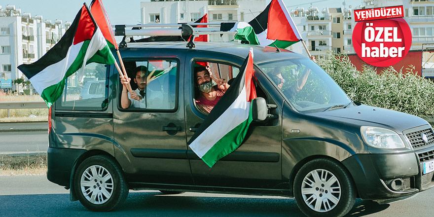 """Kendileri burada, yürekleri orada...  """"İsrail bombalarını gökyüzüne yolluyor, yakınlarımız ölüyor"""""""