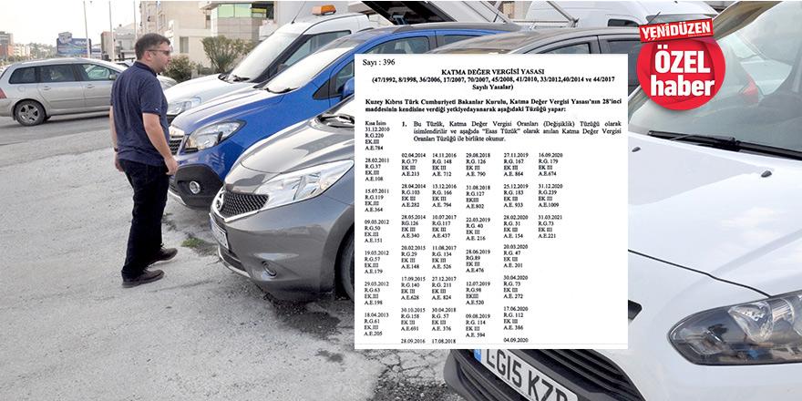 Araç satışlarında KDV oranlarına ZAM