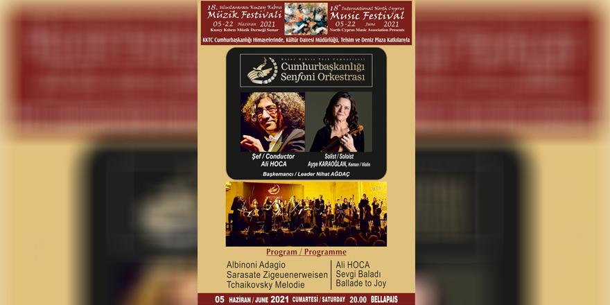 18. Uluslararası Kuzey Kıbrıs Müzik Festivali yarın başlıyor