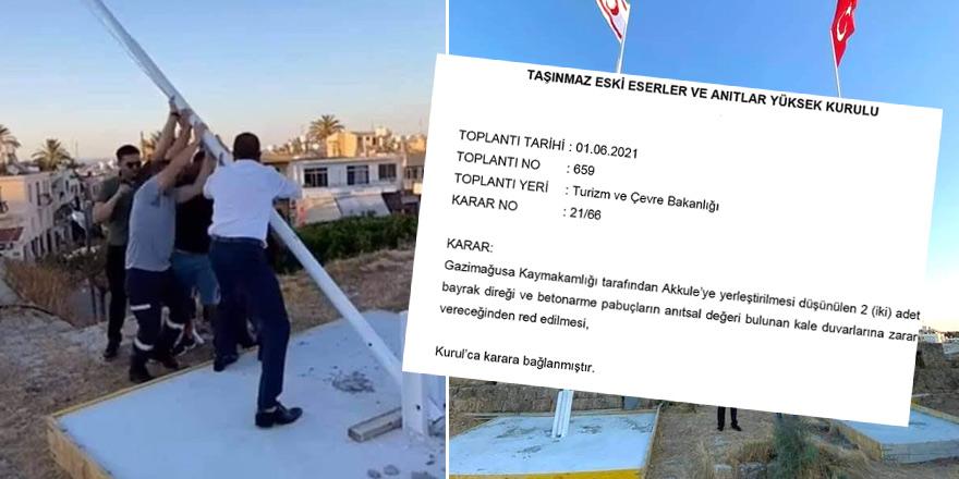 'Mağusa Surlariçi'ne bayrak dikilmesi' kararı iptal
