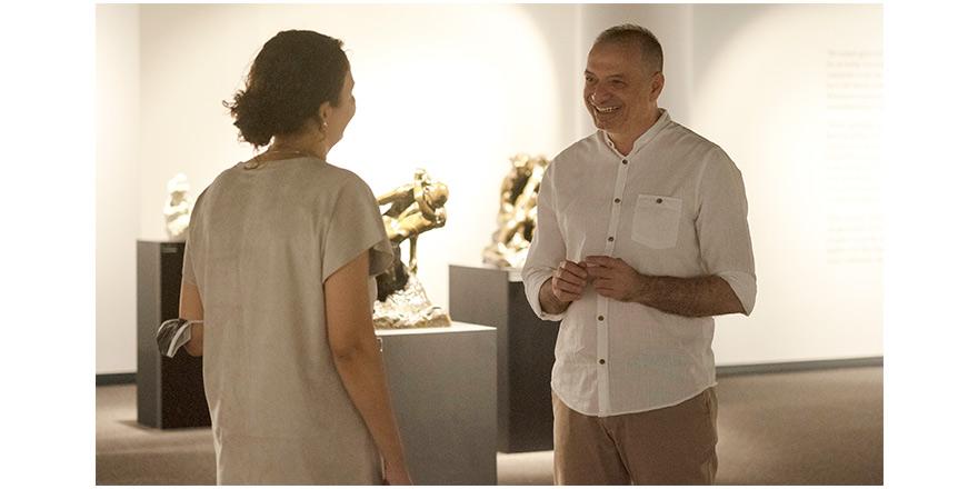 Modern heykel sanatının ustası  Auguste Rodin, şimdi Girne'de