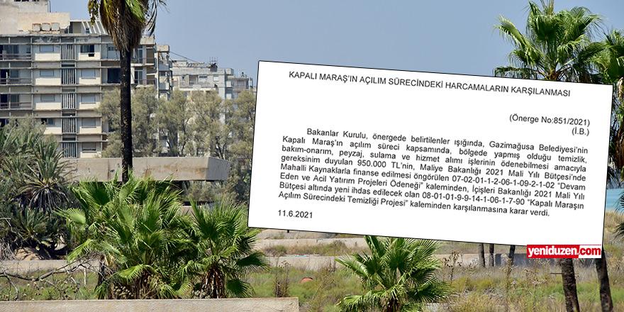 Mağusa Belediyesi'ne 950 bin TL  'Maraş' ödeneği