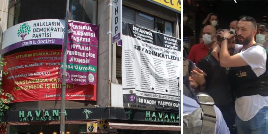 İzmir'de HDP binasına silahlı saldırı, 1 kişi öldürüldü