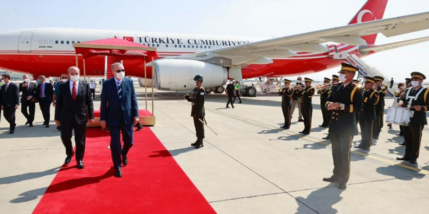 Erdoğan Kıbrıs'ta…