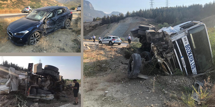 Dağ yolunda kaza: Yaralılar var