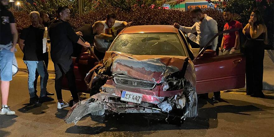 Erülkü önünde kaza, 3 yaralı
