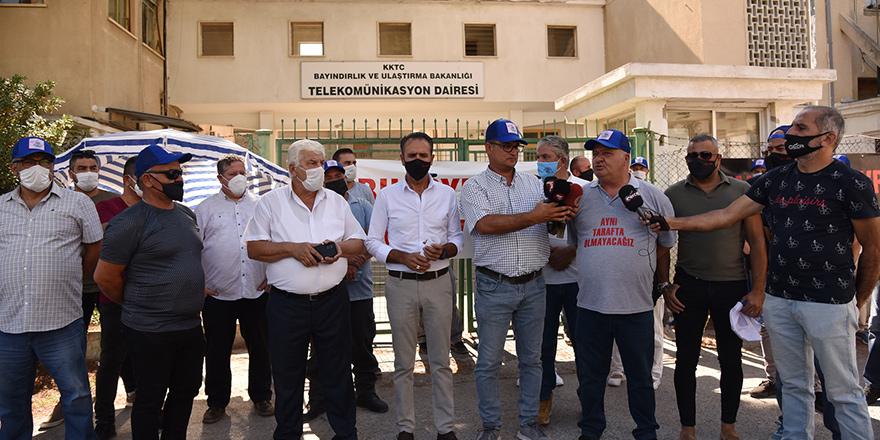 Tel-Sen'den özelleştirmeye karşı uyarı grevi