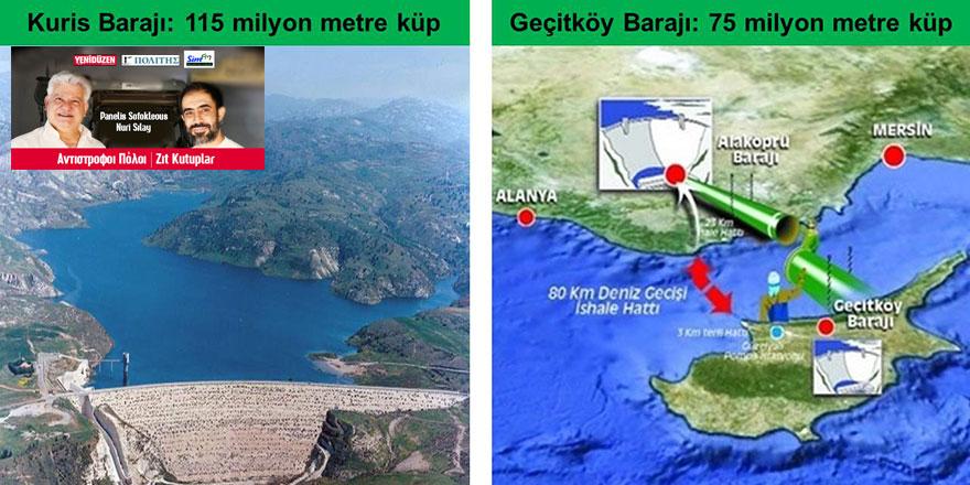 Kıbrıs'ta 105 baraj ve su tankı var