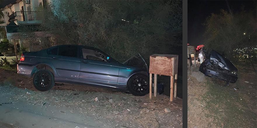 Lefkoşa'da kaza: Hızını alamadı!