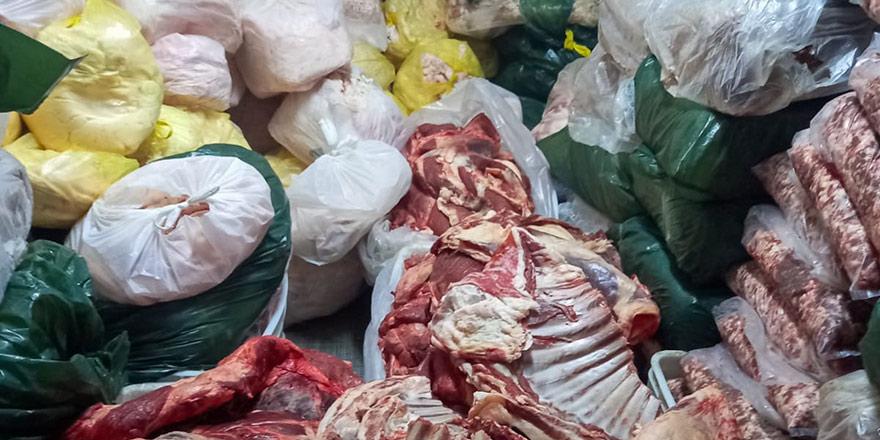 Mağusa'da 3 ton kaçak et, 2 tutuklu