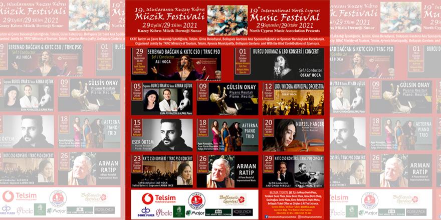 19. Uluslararası Kuzey Kıbrıs Müzik Festivali başlıyor