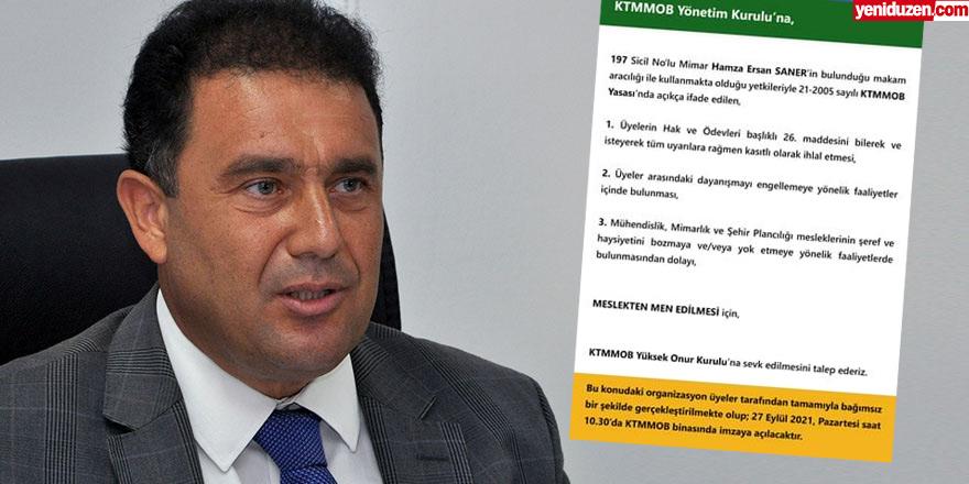 Saner'in meslekten men edilmesi için  imza kampanyası