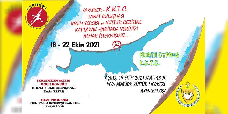 """""""Saküder Kıbrıs Sanat Buluşması"""" sergi ve ödül töreni 19 Ekim'de Lefkoşa AKM'de yapılacak"""