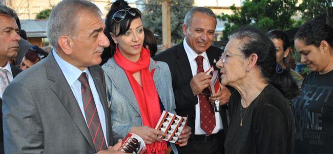 Arabacıoğlu Küçük Kaymaklı'yı  ziyaret etti