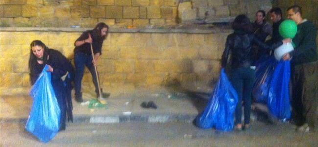 CTP-BG Lefkoşayı temizlemeye başladı bile...