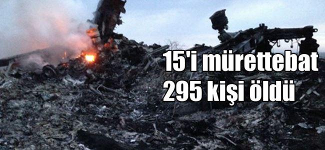 Malezya uçağı Rusya-Ukrayna sınırında düştü