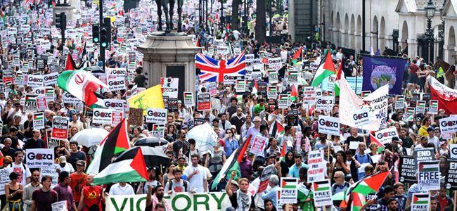 İsrailin Gazze saldırıları Londrada kınandı